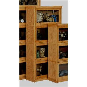 GS Furniture American Classic 4 Stack Lawyers Bookcase