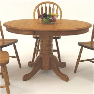 "GS Furniture American Classic Oval Dining Table with 12"" Leaf"