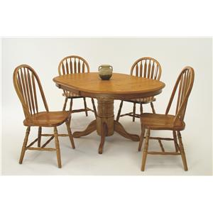 GS Furniture American Classic 5-Piece Oval Table & Side Chair Set