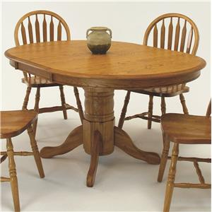 "GS Furniture American Classic Oval Dining Table with 18"" Leaf"