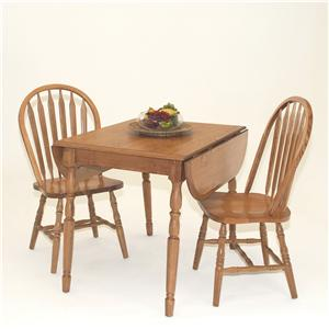 GS Furniture American Classic 3-Piece Dropleaf Table & Side Chair Set