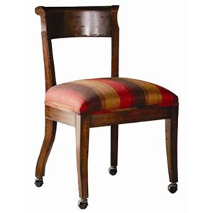 Guy Chaddock Melrose Custom Handmade Furniture Country English Side Chair with Casters