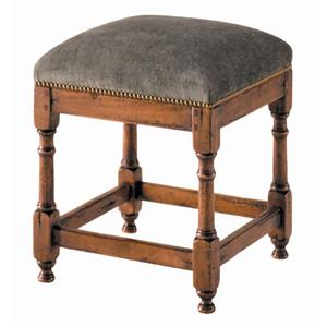Guy Chaddock Melrose Custom Handmade Furniture Country English Upholstered Stool