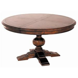 Guy Chaddock Melrose Custom Handmade Furniture Country English Round Pedestal Table