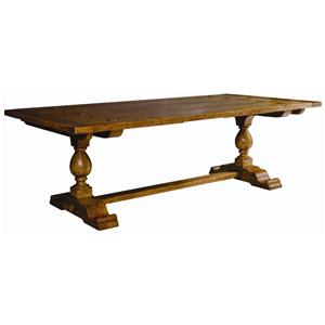 Guy Chaddock Melrose Custom Handmade Furniture Country English Trestle Table