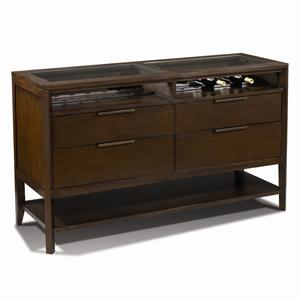 Harden Furniture Artistry Monterey Buffet w/ Glass Insert Top