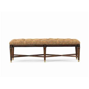 Hickory White Continental Classics Upholstered Bench
