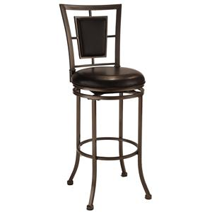 "Hillsdale Metal Stools 30"" Bar Height Auckland Swivel Stool"