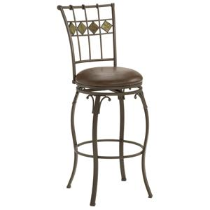 "Hillsdale Metal Stools 30"" Bar Height Lakeview Stool"