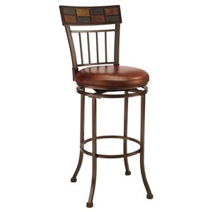 "Hillsdale Metal Stools 24"" Counter Height Montero Stool"