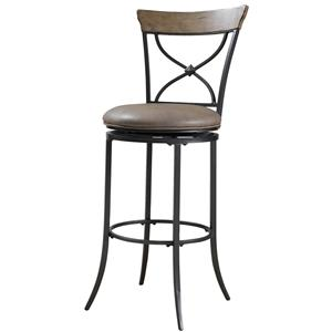 Hillsdale Metal Stools Charleston Swivel X-Back Counter Stool
