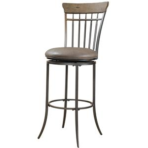 Hillsdale Metal Stools Charleston Swivel Spindle Back Counter Stool