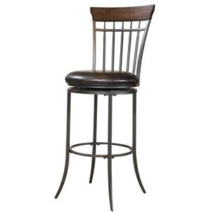 Hillsdale Metal Stools Cameron Swivel Spindle Back Bar Stool