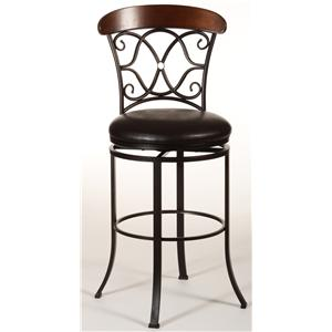 Hillsdale Metal Stools Portland Swivel Counter Stool