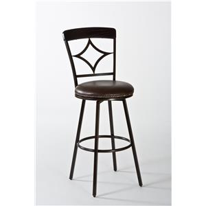 Hillsdale Metal Stools Constance Swivel Counter Stool