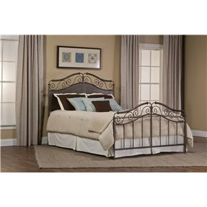 Hillsdale Metal Beds Ravella Queen Bed Set Without Rails