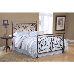 Hillsdale Metal Beds Brady Queen Bed Set Without Rails