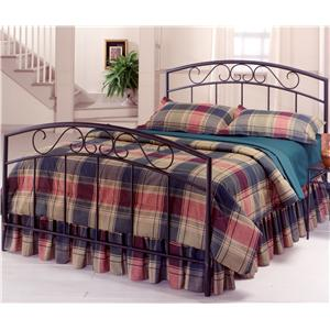 Hillsdale Metal Beds Queen Black Wendell Bed