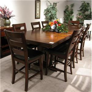 Holland House 1268 9 Piece Dining Table and Chair Set
