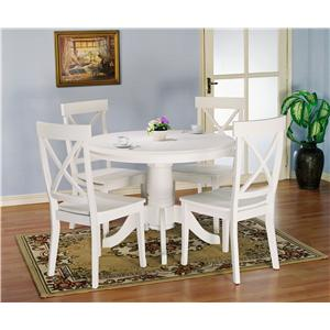Holland House 1280 5 pc. Table and Chairs Set