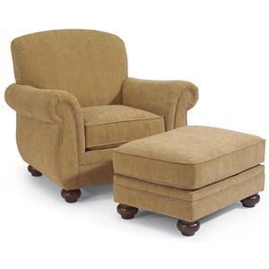 Flexsteel Winston Chair and Ottoman Set