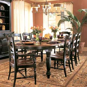 Hooker Furniture Indigo Creek Oval Dining Table