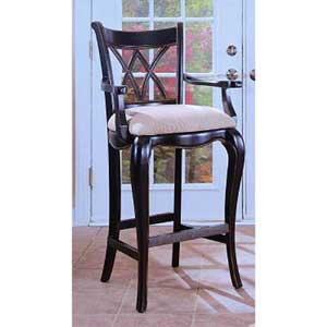Hooker Furniture Preston Ridge Double X Back Bar Stool