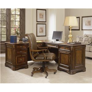 "Hooker Furniture Brookhaven Executive ""L"" Return Desk"