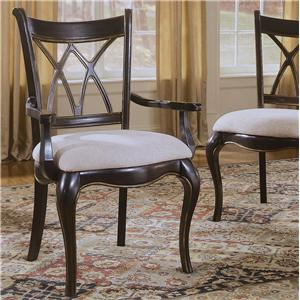 Hooker Furniture Preston Ridge X Back Dining Arm Chair