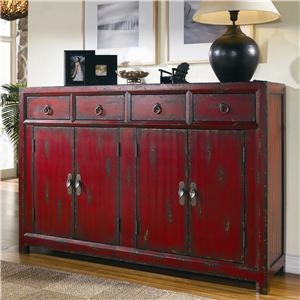 Hooker Furniture Chests and Consoles Red Asian Cabinet