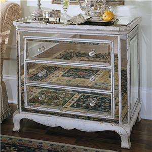 Hooker Furniture Chests and Consoles Three Drawer French Mirror Chest