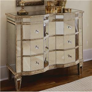 Hooker Furniture Chests and Consoles Mirrored Three Drawer Chest