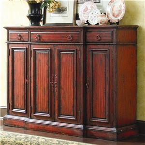 Hooker Furniture Chests and Consoles 72 Inch Tall Waisted Credenza