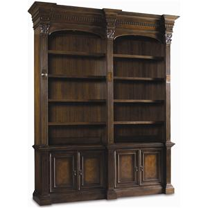 Hooker Furniture European Renaissance II Double Bookcase w/o ladder & rail