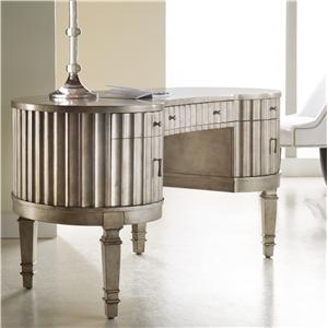 Hooker Furniture Mélange Fluted Kidney Desk