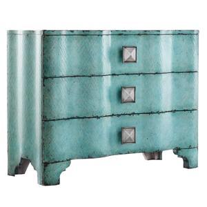 Hooker Furniture Mélange Turquoise Crackle Chest