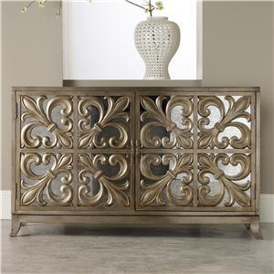 Hooker Furniture Mélange Fleur-de-lis Mirrored Credenza