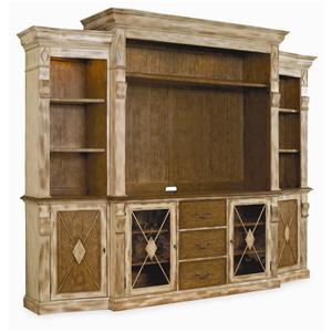 Hooker Furniture Sanctuary 7 Piece Wall Unit