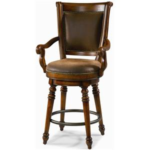Hooker Furniture Waverly Place 30-Inch Swivel Bar Height Stool