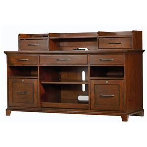 Hooker Furniture Wendover Computer Credenza and Smart Hutch Combo