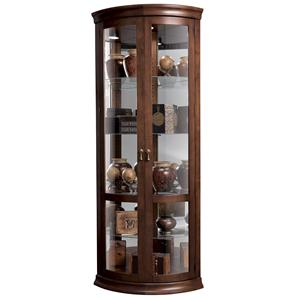 Howard Miller Corner Curios Chancellor Display Cabinet