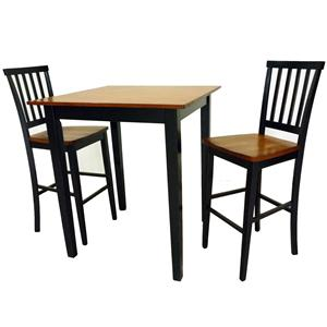 Intercon Arlington 3 Piece Pub Table & Stool Set