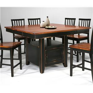 Intercon Arlington Kitchen Island & Bar Stool Set