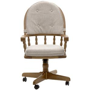 Intercon Classic Oak Game Chair with Casters