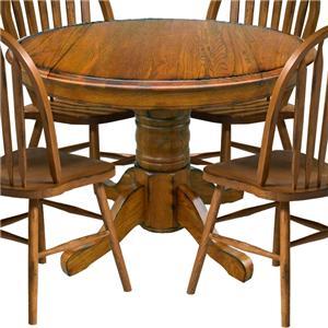 "Intercon Classic Oak 42"" Pedestal Table"