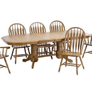 Intercon Classic Oak Trestle Table