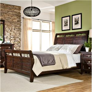 Intercon Hayden Queen Sleigh Bed