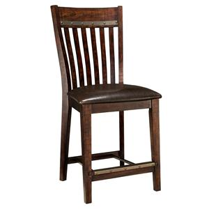 "Intercon Hayden 24"" Slat Back Bar Stool"