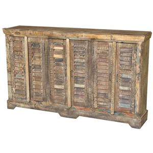Jaipur Furniture Guru 6 Door Shutter Sideboard