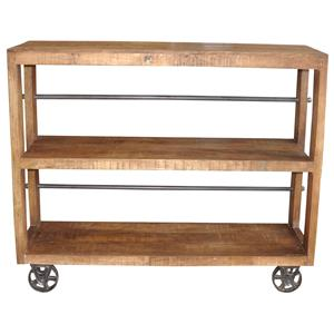Jaipur Furniture Guru Wheeled Small Bookcase